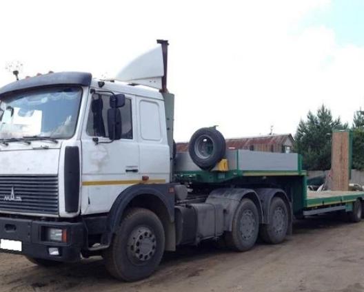 Аренда низкорамного трала МАЗ 24 тонны