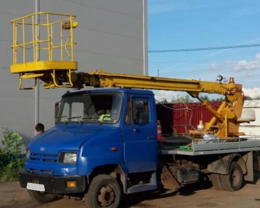 Аренда автовышки ЗИЛ БЫЧОК 17 метров