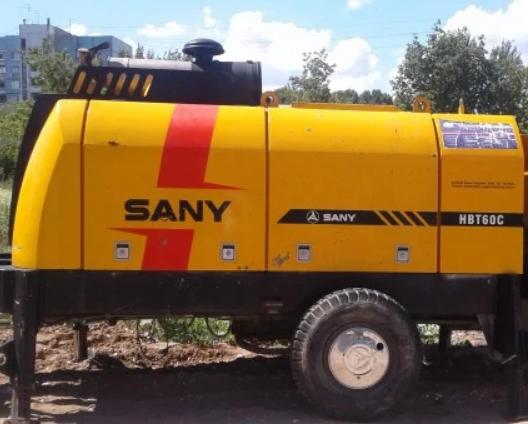 Аренда стационарного бетононасоса SANY
