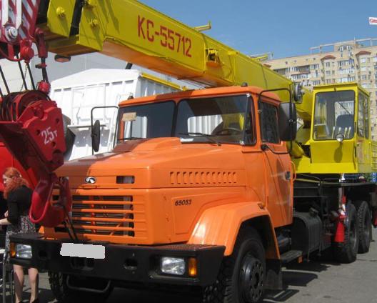 Аренда автокрана КС-55712-1 БРОВАРЧАНЕЦЬ 25 тонн